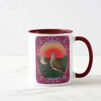 Tauben gerahmt tasse