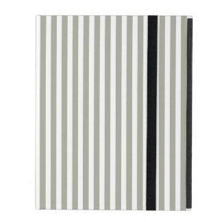 Tauben-graue und weiße Cabana-Streifen Hülle Fürs iPad