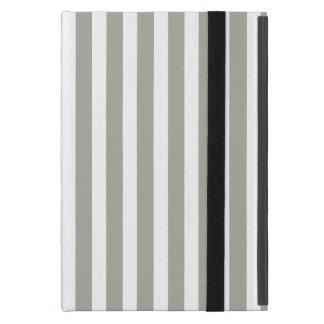 Tauben-graue und weiße Cabana-Streifen iPad Mini Schutzhülle