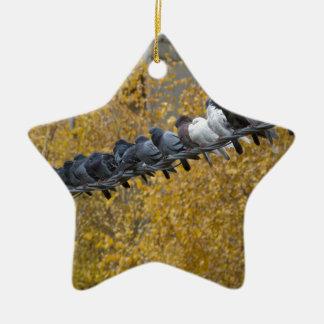 Tauben Keramik Stern-Ornament