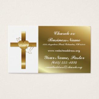 Tauben-Kirchen-Minister Visitenkarte des Goldquerw