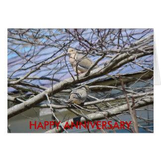Tauben-Paare unter den Niederlassungen, Grußkarte