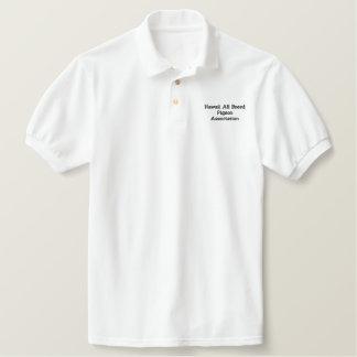 Tauben-Polo-Shirt Besticktes Polo Shirt
