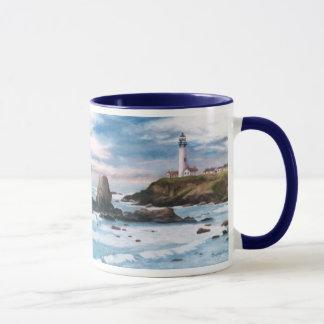 Tauben-Punkt-Leuchtturm-Tasse Tasse