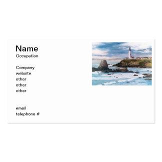 Tauben-Punkt-Leuchtturm-Visitenkarten