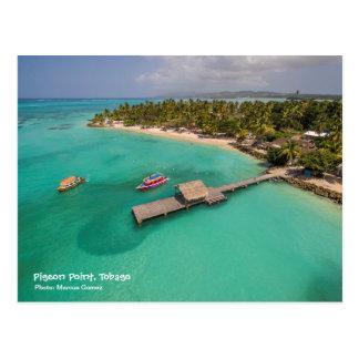 Tauben-Punkt Tobago mit Glasunterseiten-Booten Postkarte