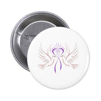 Tauben-rosa Band Button