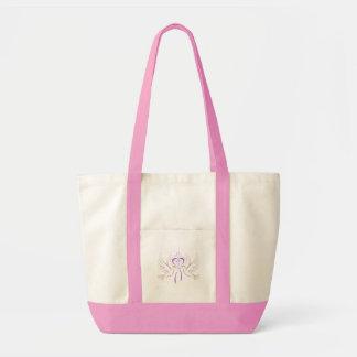 Tauben-rosa Band Einkaufstaschen