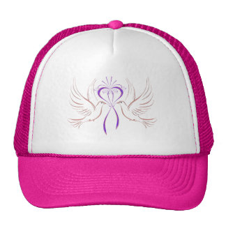 Tauben-rosa Band Netzkappe