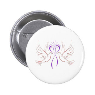 Tauben-rosa Band Runder Button 5,7 Cm