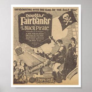 Tauben-Schwarz-Pirat 1926 Douglas Fairbanks Billie Poster