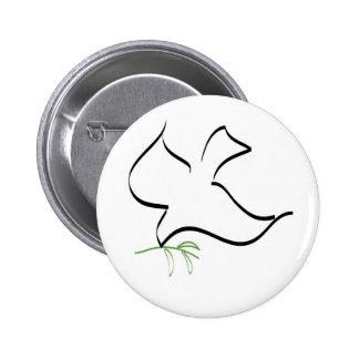 Tauben-und Ölzweig-Bild Runder Button 5,1 Cm