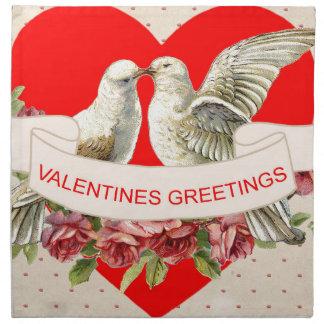 Tauben-Valentinsgruß Serviette