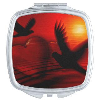 Tauben-Vogel-Glühen-Schönheits-Vertrags-Spiegel Schminkspiegel
