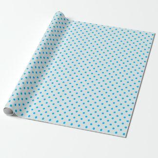 Taubenblaues u. Himmel-Blau-Tupfen-Packpapier Geschenkpapier