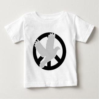Taubenfriedensschwarzes Baby T-shirt