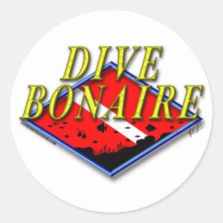 Tauchen-Bonaire-Aufkleber Runder Aufkleber
