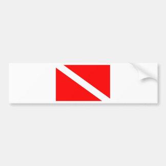Tauchen-Flagge Autoaufkleber
