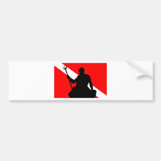 Tauchen-Flagge Neptun Autoaufkleber