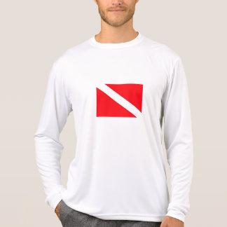 Tauchen-Flaggen-langes Hülsen-Shirt T-Shirt