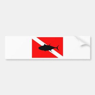 Tauchen-Flaggen-Thunfisch Autoaufkleber