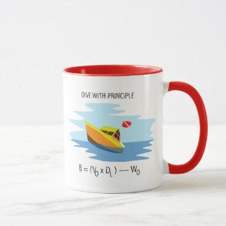 Tauchen mit Archimedes-Prinzip Tasse