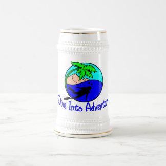 Tauchen Sie in Abenteuer-Ozean-Taucher Bierglas
