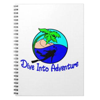 Tauchen Sie in Abenteuer-Ozean-Taucher Spiral Notizblock