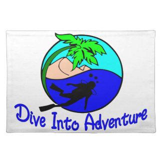 Tauchen Sie in Abenteuer-Ozean-Taucher Tischset