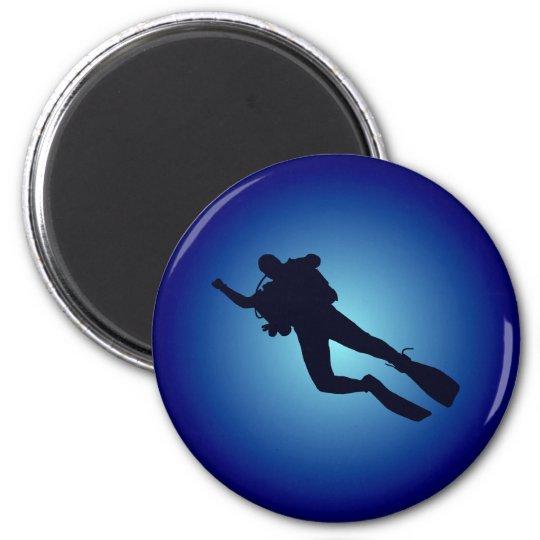 Taucher diver runder magnet 5,1 cm