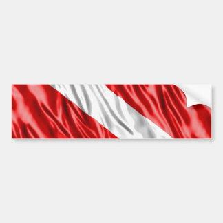 Taucher-Flagge Autoaufkleber