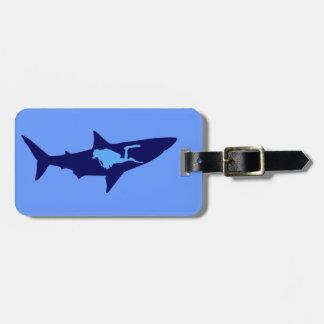 Taucher Hai diver shark Kofferanhänger