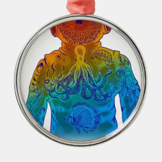 Taucher Silbernes Ornament