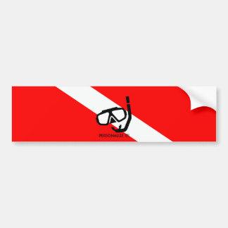 Tauchmaske mit Flagge Autoaufkleber