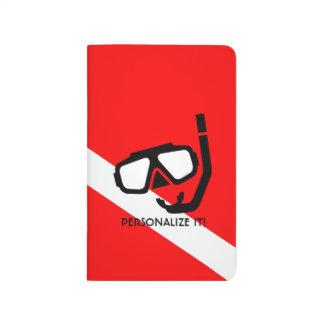 Tauchmaske mit Flagge Taschennotizbuch