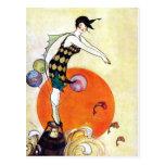 Tauchprallplatten-Mädchen Postkarten