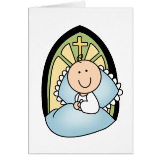 Taufe-Baby Grußkarte