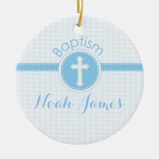 Taufe-blaues Kind des Gottes, kundengerecht Keramik Ornament