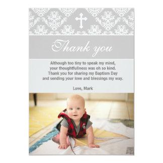 Taufe danken Ihnen, Taufsilbernes Weiß zu merken Karte