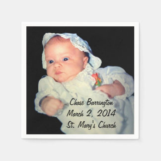 Taufe das Babyspecial-Foto Papierserviette