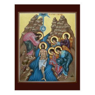 Taufe der Christus-Gebets-Karte Postkarte