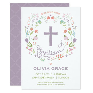 Taufe-Einladung für das Mädchen - hübsch, Karte