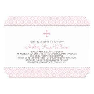 Taufe-Einladungen für rosa Muster des Baby-|