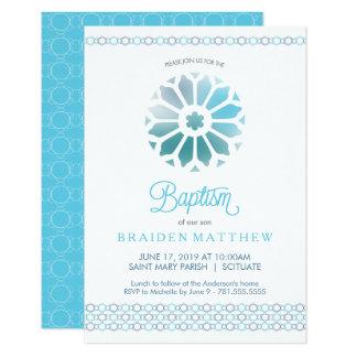 Taufe, Taufe-Einladung, Jungen laden ein Karte