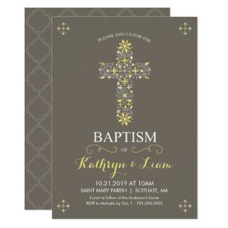 Taufe, Taufe Invitatio, Mädchen und oder Junge Karte