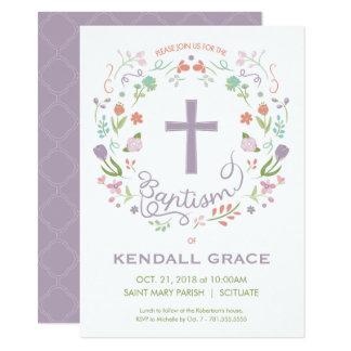 Taufe, Taufeinladung für Mädchen - Gewohnheit Karte