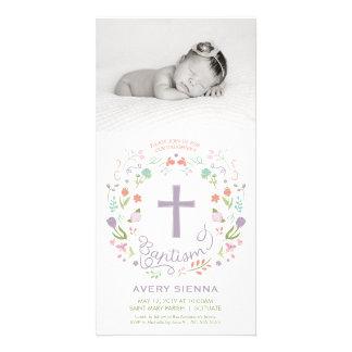 Taufe, TaufFoto-Karten-Einladung - Mädchen Karte