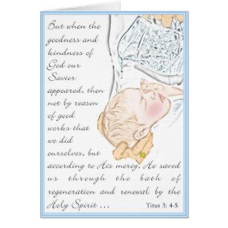 Taufe Titus 3:4 - Bad 5 von Regeneration Grußkarte