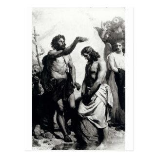 Taufe von Christus circa 1879 Postkarte