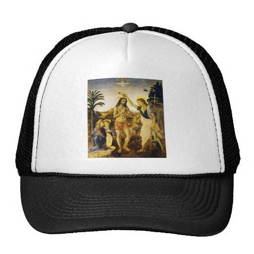 Taufe von Christus durch Da Vinci und Verrocchio Trucker Mützen